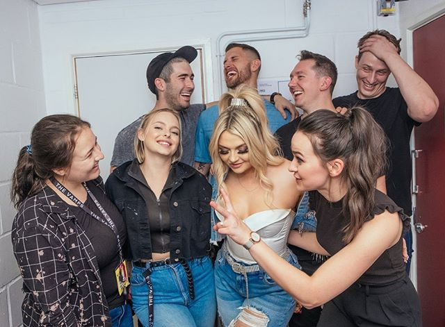 WHAM BAM HOT DAMN WHAT A LOVELY TOUR FAM 💎 Thank you to these badass people for putting together this fabulous tour with me - from playing shows each night to capturing it all on camera, from dolling me up to keeping me sane, from getting us to each venue, hotel, and adventure to keeping us safe - these guys did it all. I'm beyond grateful for these humans. 💙  Not pictured: Coco, our wonderful, yet elusive bus driver.