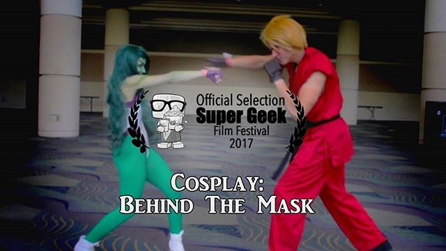 Who's going to Florida Supercon?! @fashion_fantasy_by_ciara and @tekadancosplay duking it out on screen. Who wins? Come to the Super Geek Film Festival to find out.