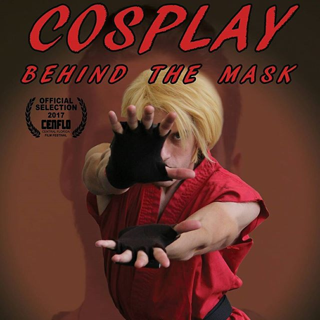 HADOUKEN! @tekadancosplay proving he's the ultimate street fighter. Swipe to see behind the mask. . 2 more days until Cosplay: Behind The Mask screens at the Central Florida Film Festival. 🎬 🎬🎬