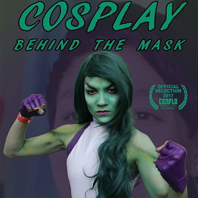 Tomorrow's the day! @fashion_fantasy_by_ciara's cosplay game is She-hulk strong. Swipe to see behind the mask. . Cosplay: Behind the mask screens at the Central Florida Film Festival tomorrow at 12:55pm. Come to West Orange Cinema in Ocoee and check it out!