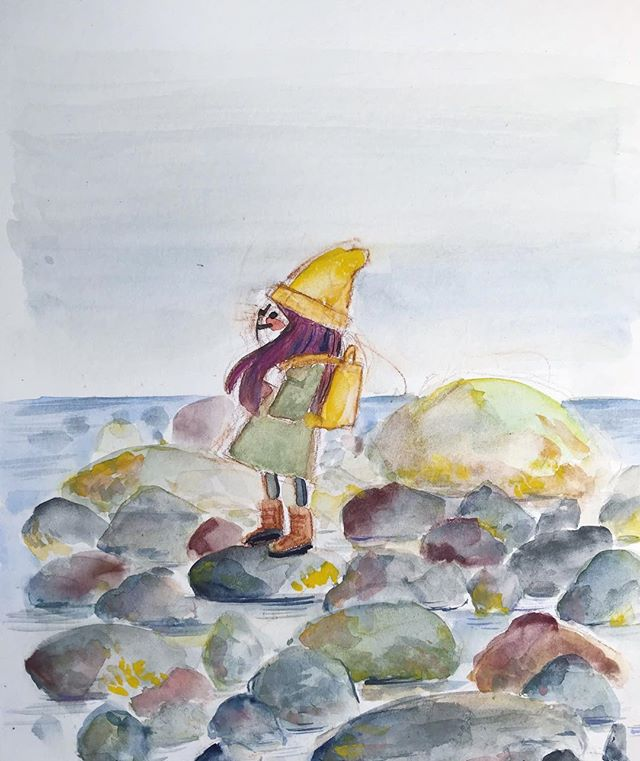 I painted this after seal watching in Iceland ❤️. Have an adventure-filled Friday everyone!