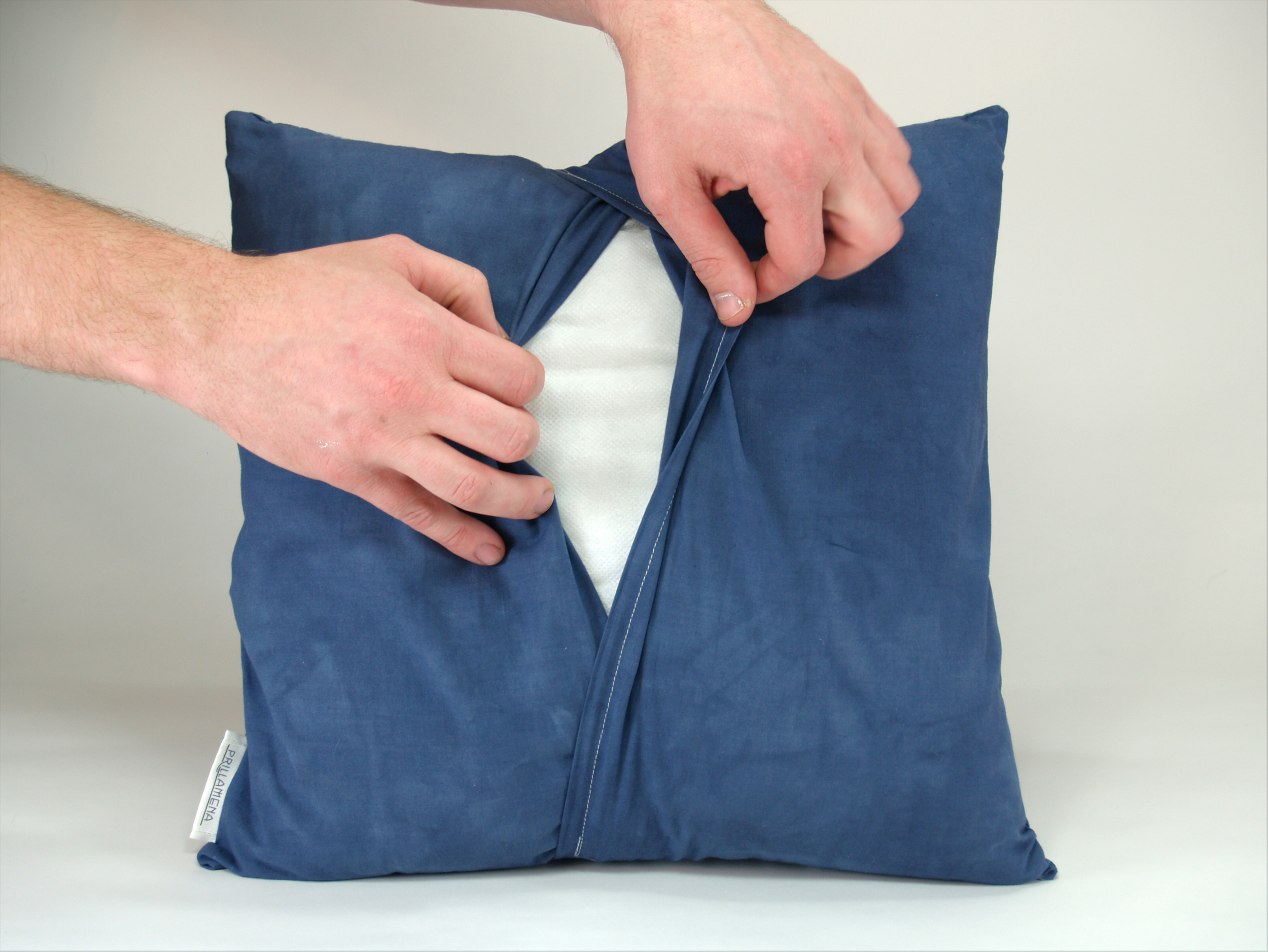 This is an example of the overlapping flaps on the back of our pillow shams.