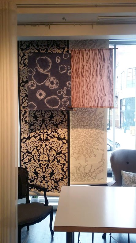 Here are two of our shibori wall hangings. All of our wallhangings are one-of-a-kind.