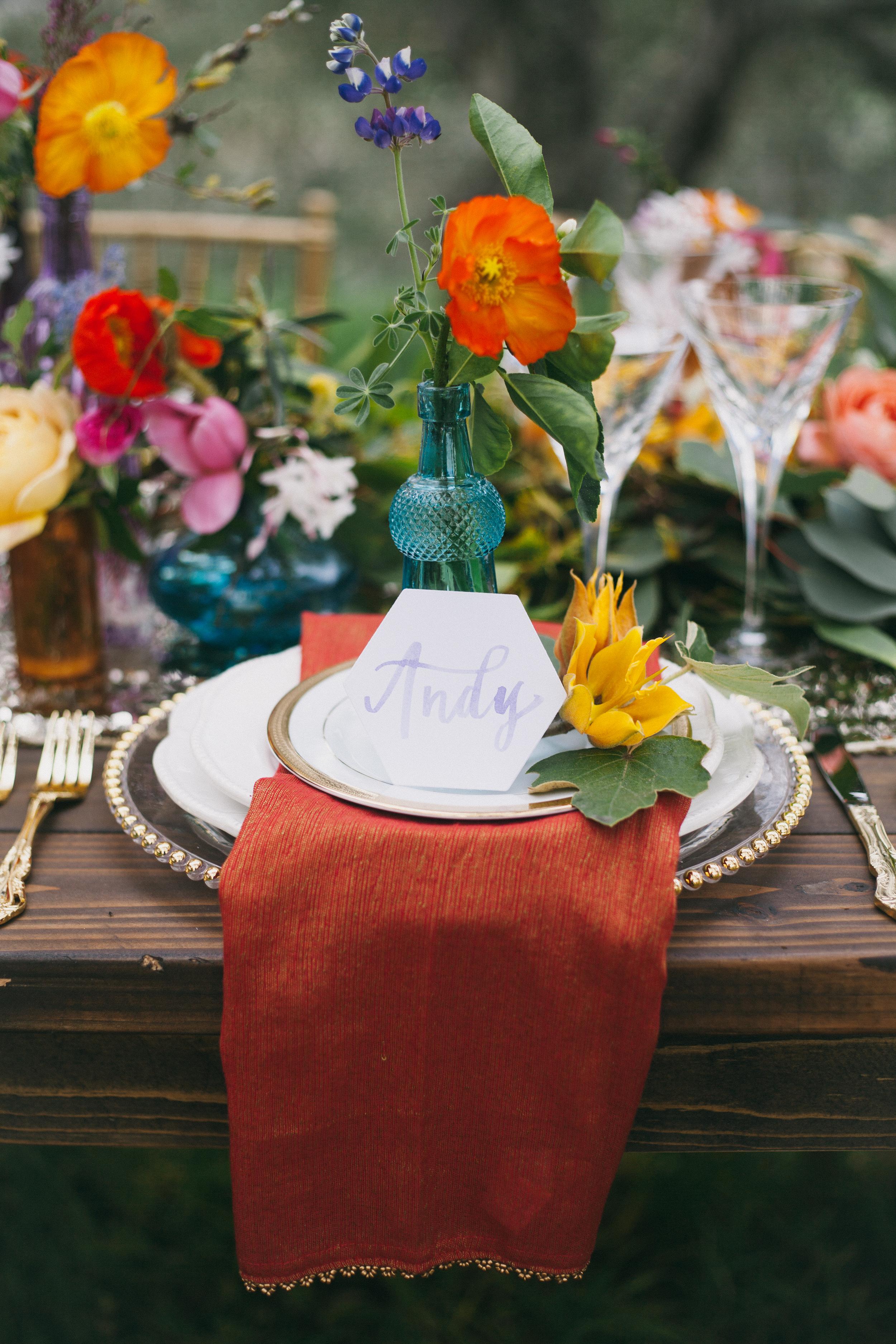 Table setting Bohemian Wedding