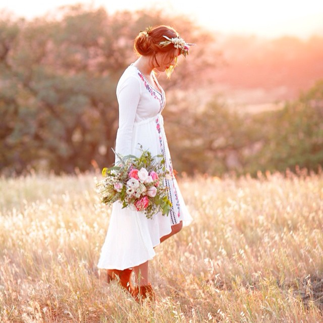Wildflowers and Rose Bouquet & Flower Crown