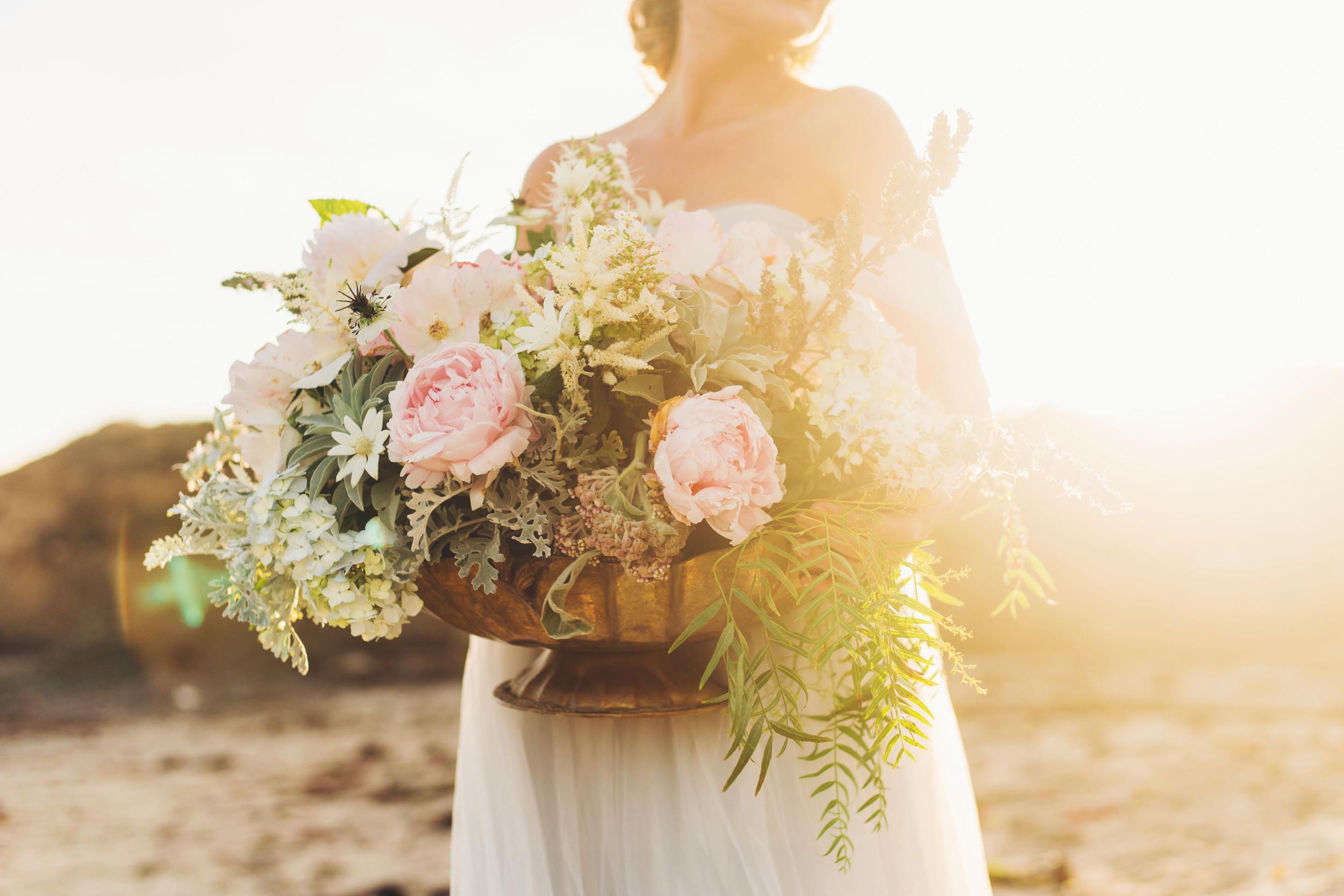 Flower arrangment with Peonies, Hydrangeas, Jasmine