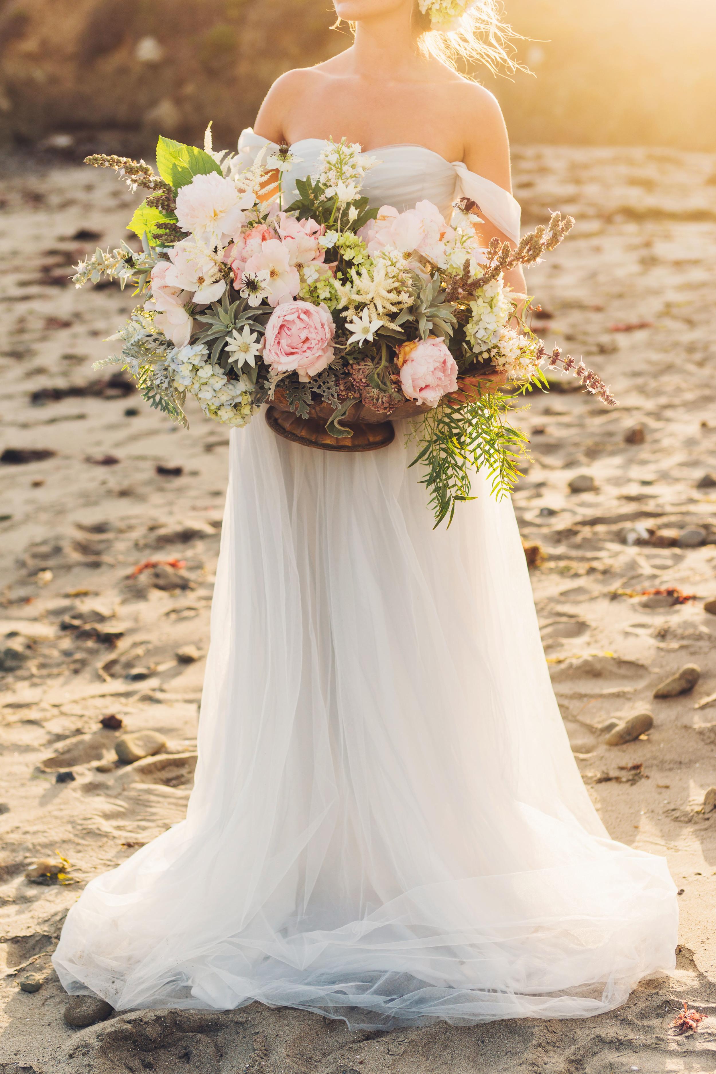 Floral arrangement with Peonies, Hydrangeas, and Jasmine