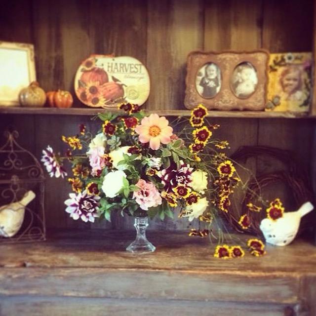Fall Table Arrangement
