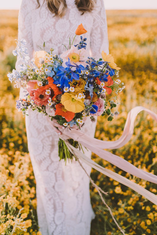 Wildflower Inspired, poppies, delphinium, clover