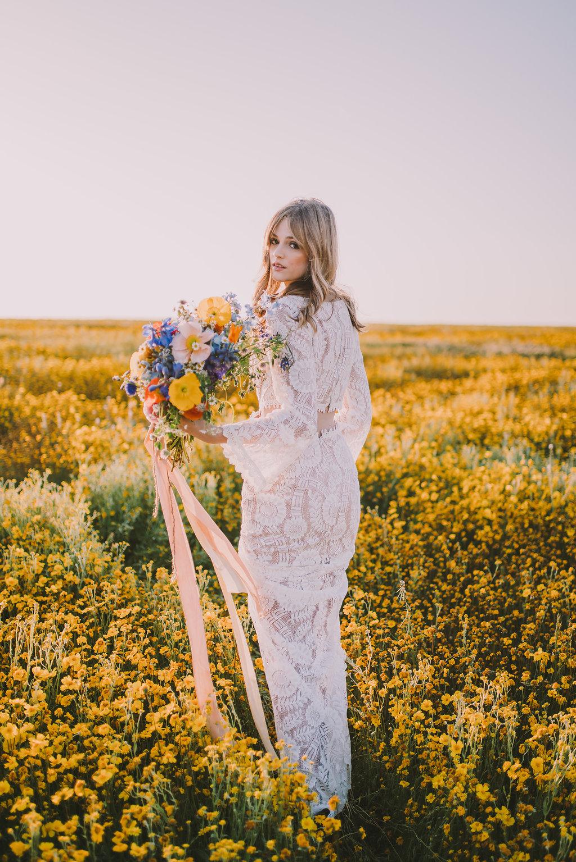 Wildflower Inspired Bridal Bouquet