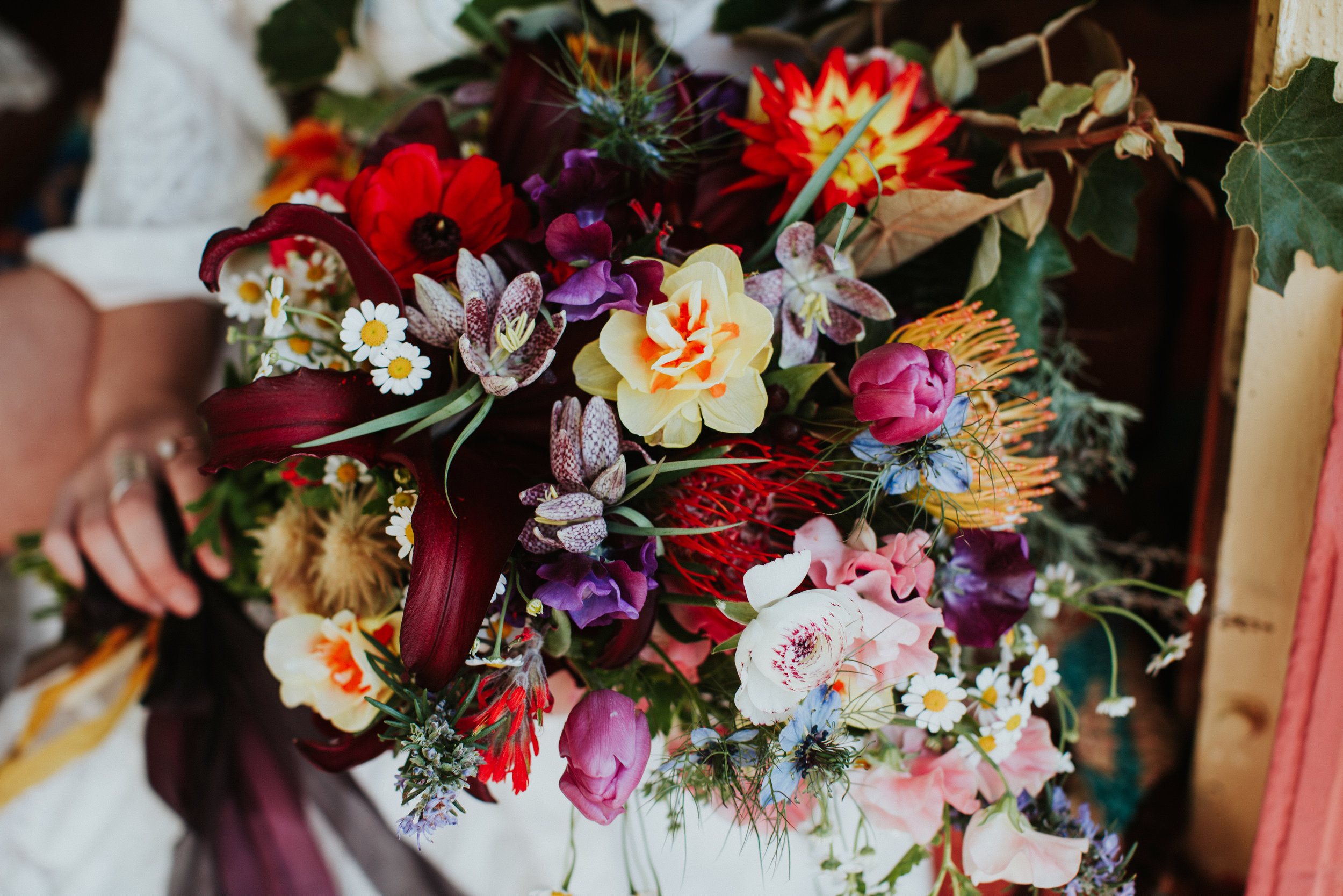 Wild and market finds bridal bouquet