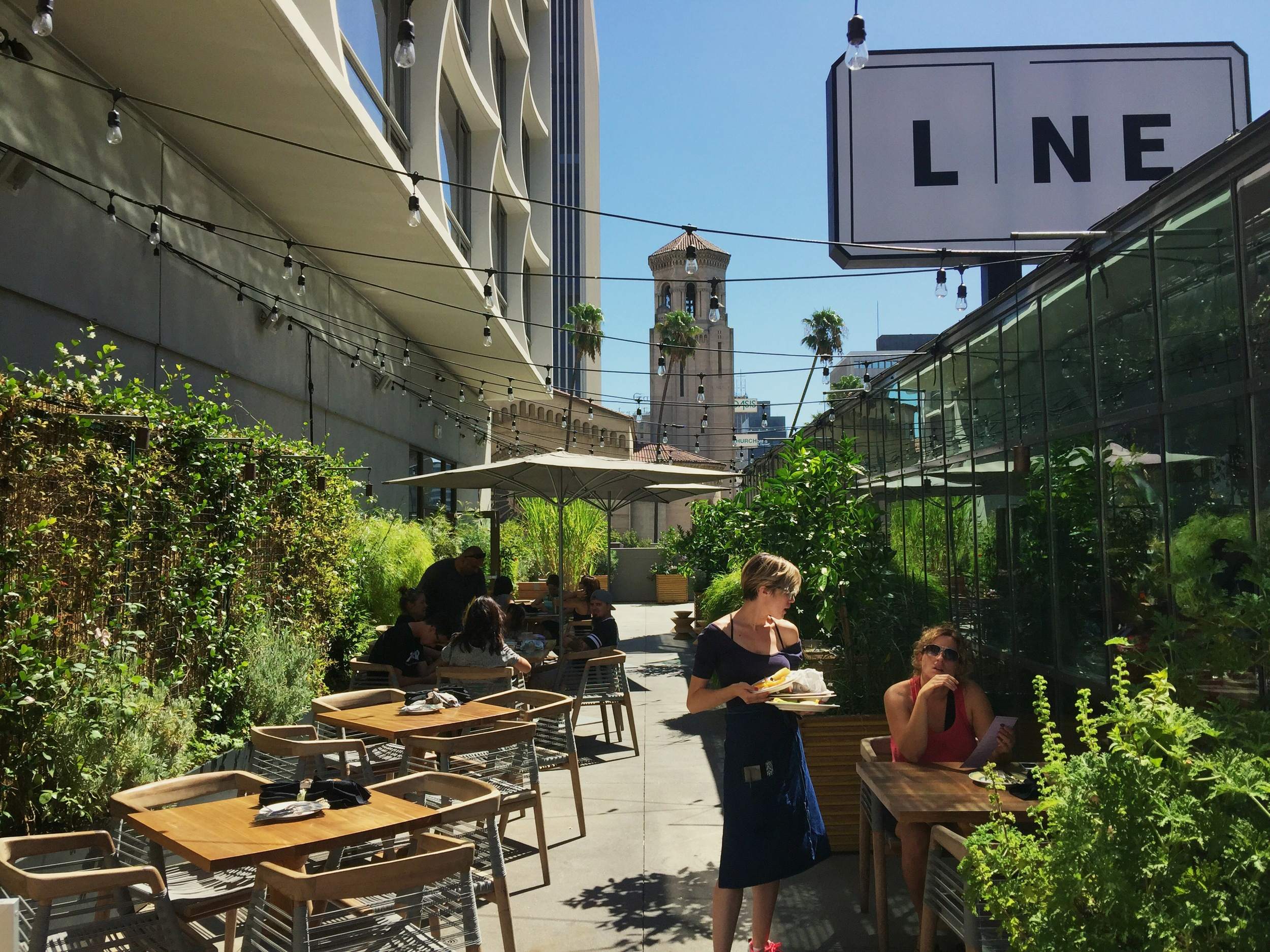 Commissary on the rooftop of The Line Hotel // Korea Town, Los Angeles