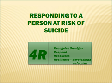 Responding to a Person at Risk of Suicide  See the Flyer  here