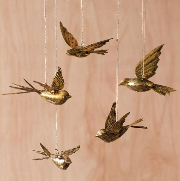 Brass Swallow Ornaments