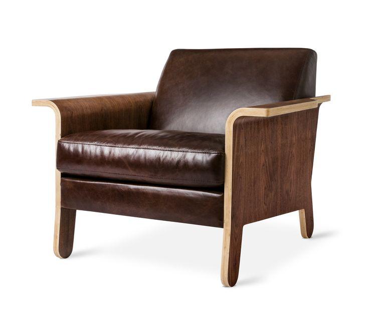 Leather  Lodge Chair  byGus Modern