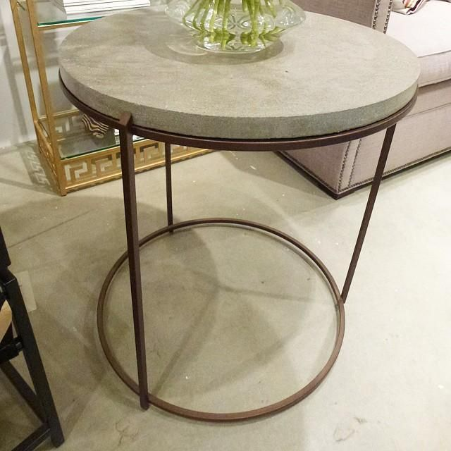 VanCollier Design concrete accent table