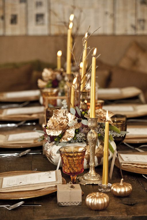 The  combination  of golds and rustic charm, love!