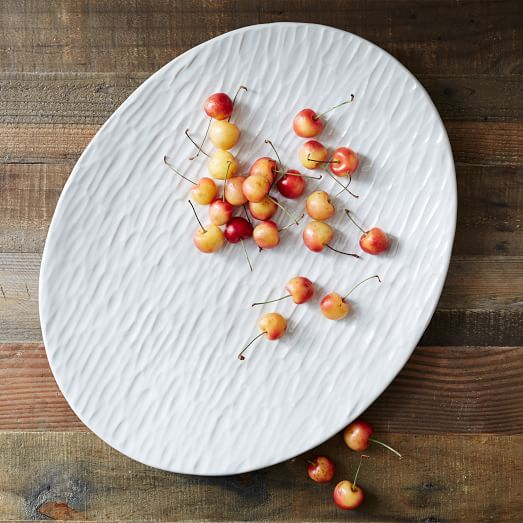 West Elm 's Farmhouse Pottery Turkey Platter