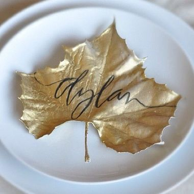Place cards from  The Stir