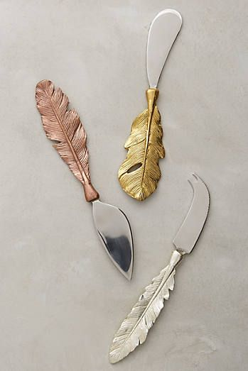 Langholm Cheese Knives at  Anthropologie