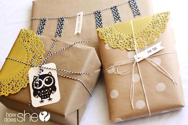 Gift wrap accessories at  How Does She?