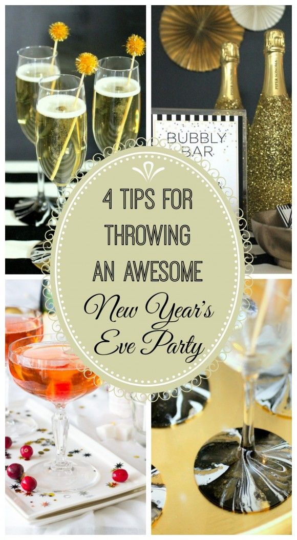 Great NYE party tips by  Catch My Party