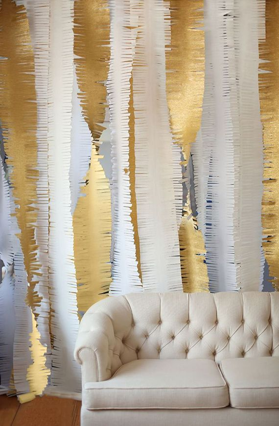 Crepe paper garland by  100 Layer Cake-let