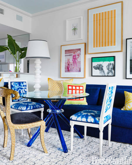 Mediterranean blue found on  House Beautiful