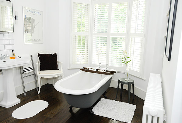 Claw-foot tub featured on  Details