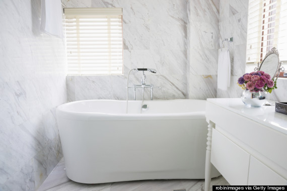 Stand alone tub on  Huffington Post