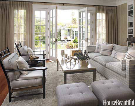 Serene gray featured on  House Beautiful
