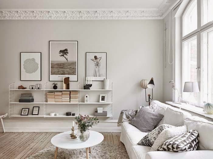 Another beautiful neutral gray room at  Poppytalk