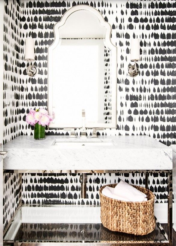 Love this wallpaper featured at Domaine Home