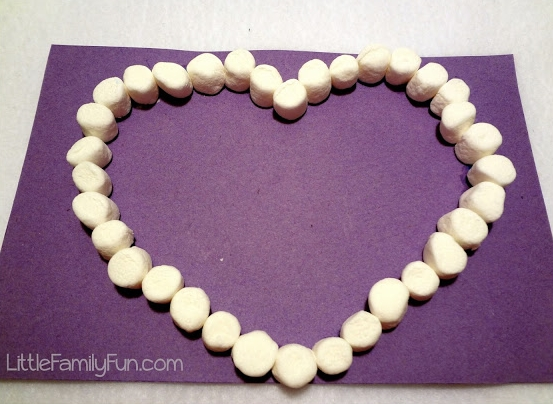 Marshmallow Heart at  Little Family Fun