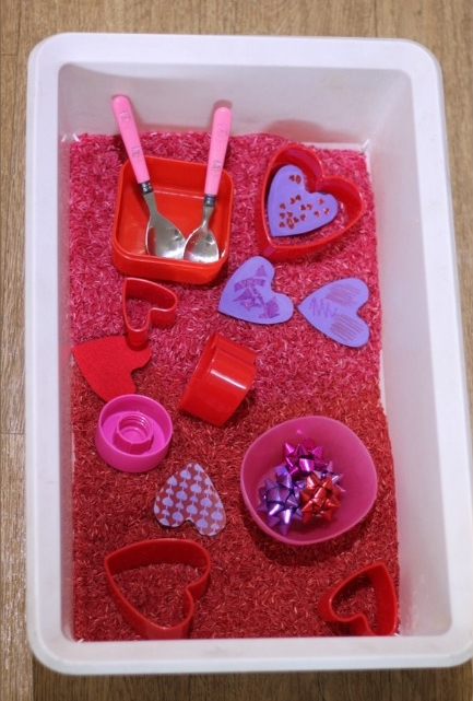 Valentine Sensory Tub at  Nurture Store