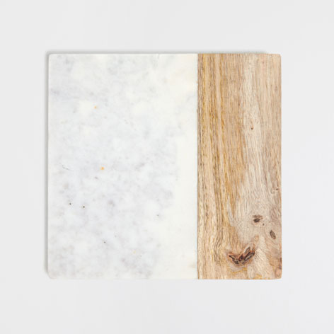 Marble and Wooden Trivet from  Zara Home
