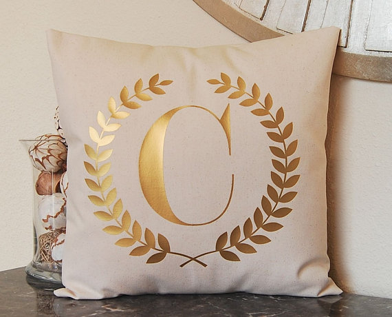 Love this!  Metallic Gold Pillow  on Etsy