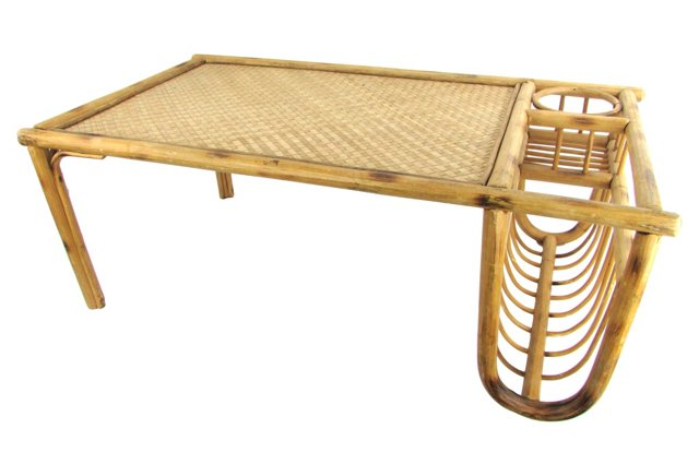 Bamboo Bed Tray with Magazine Rack