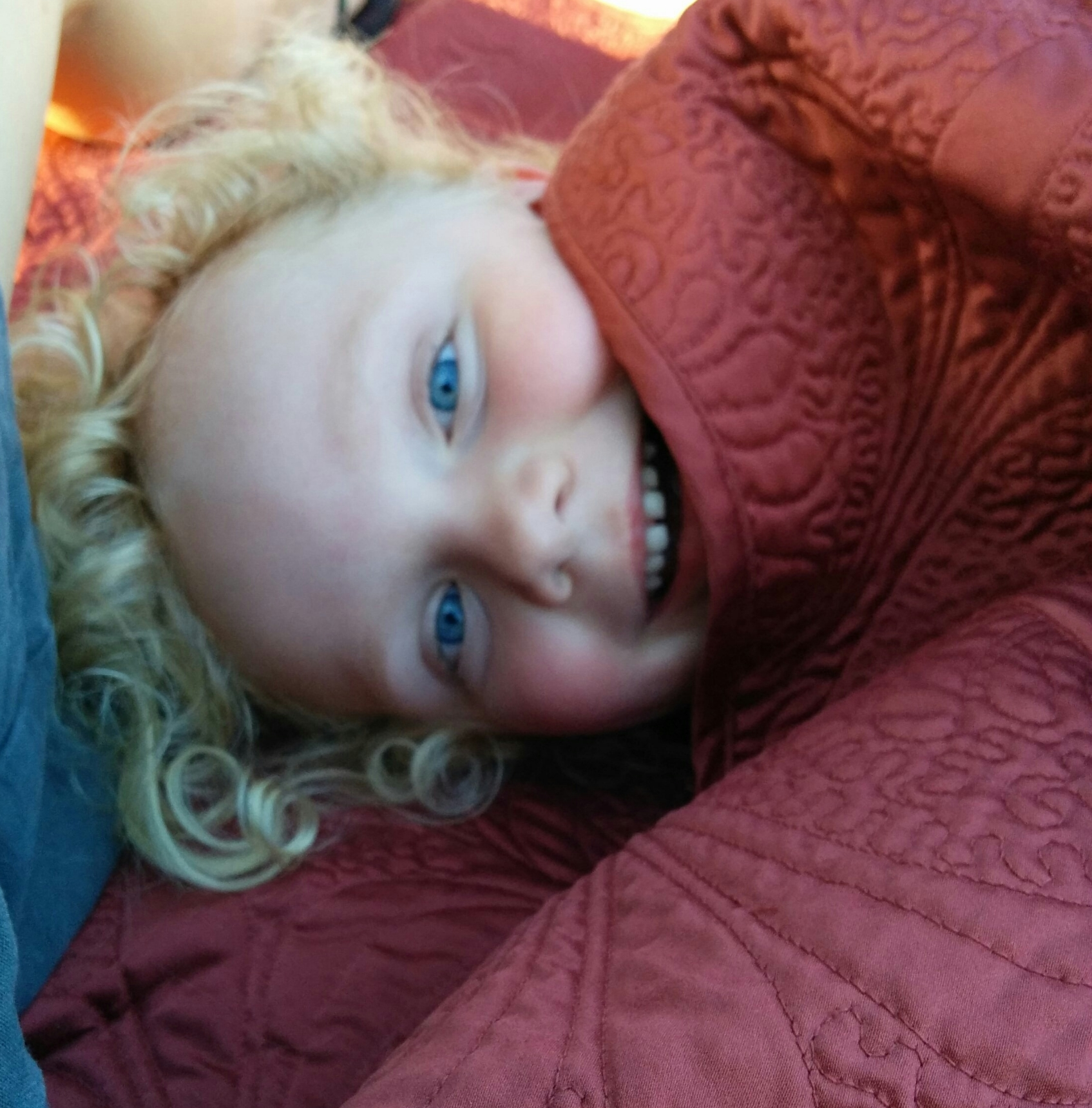 Toddler G loving a late night in the park