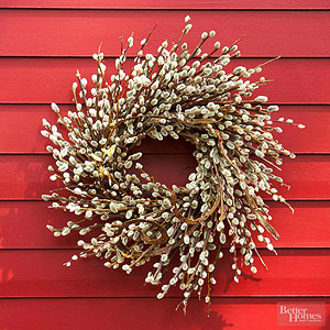 Fabulous Pussy Willow Wreath from  Better Homes and Gardens