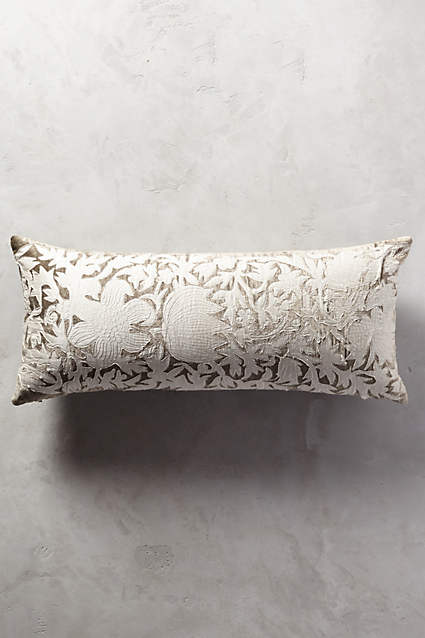 Apolline Pillow  - the velvet and applique are perfect for the season