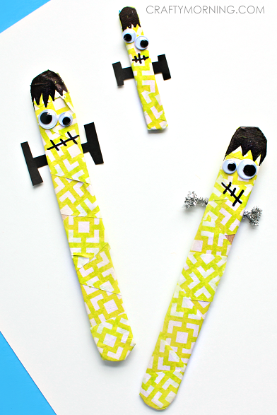 Frankenstein Popsicle Sticks  from Crafty Morning