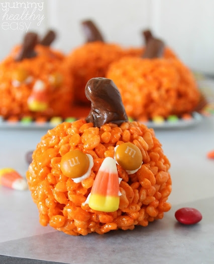Easy Pumpkin Krispies  from Yummy Healthy Easy