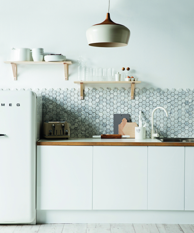 Polygon kitchen tile  source