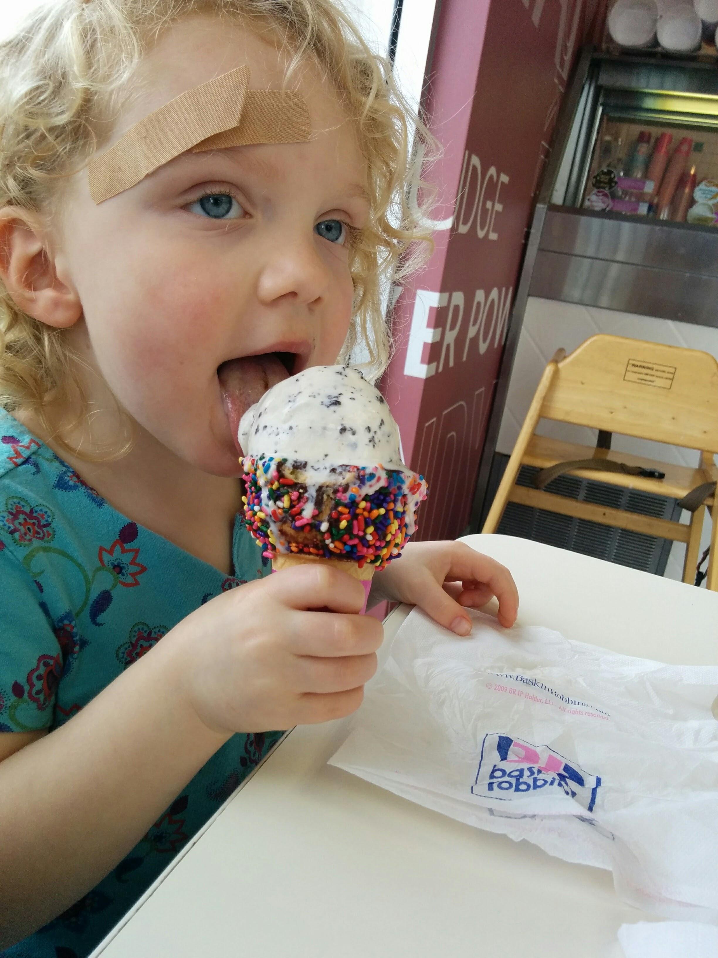 A much needed post-stitch ice cream