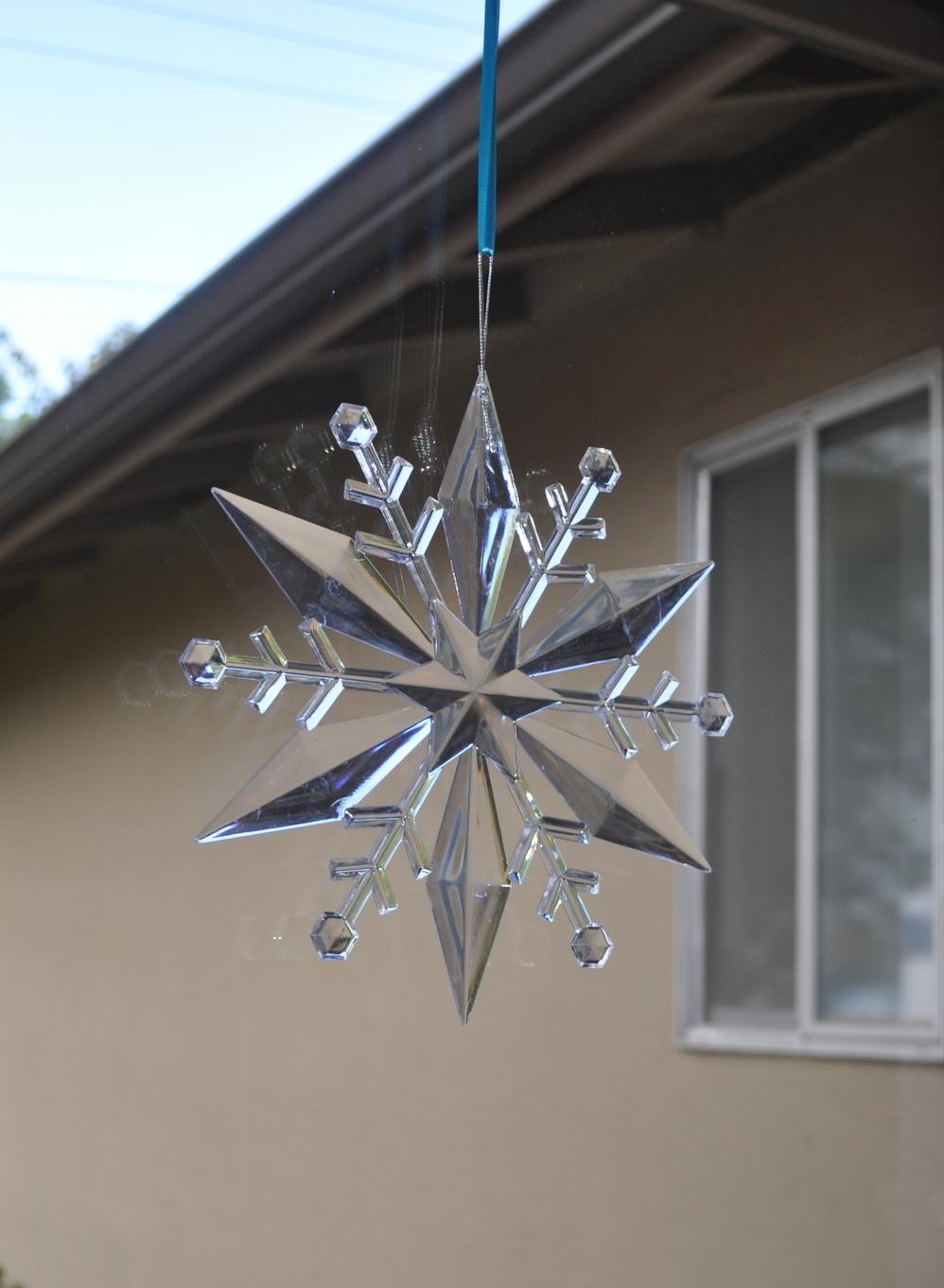 A Dollar Store snowflake