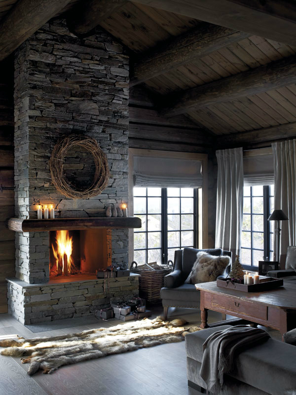 Cozy fireplace,  source
