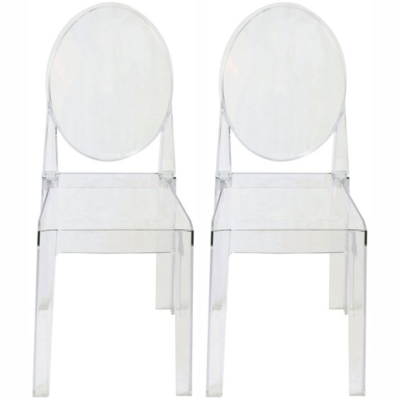 Ghost style side chairs,  source