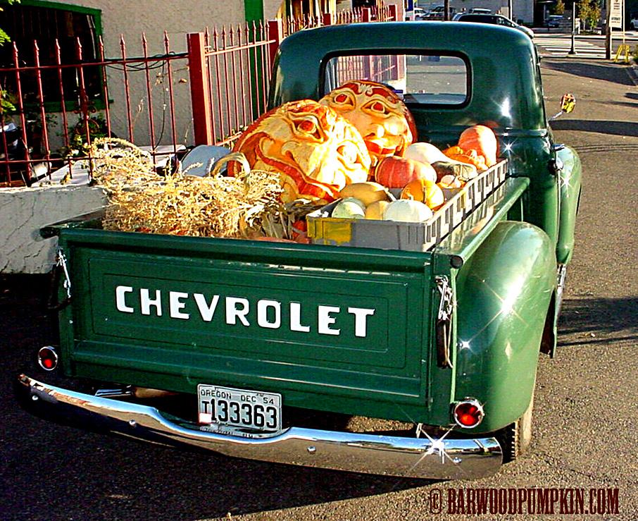 Truckload of sweet pumpkin