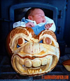 Tucker in Tiki Pumpkin